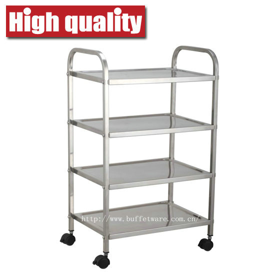 Square Tube 4 Tier Trolley