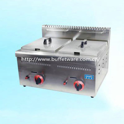 Commercial Stainless steel 2-Tank Gas Fryer