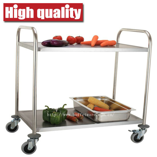Round Tube 2 Tier Service Trolley