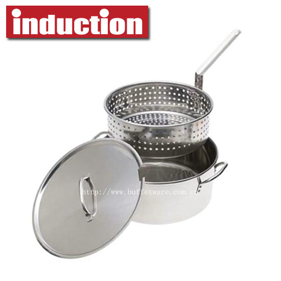 Commercial Stainless Steel Casserole with Basket
